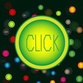Botões brilhantes, coloridos — Vetor de Stock