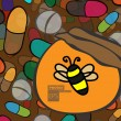 Royalty-Free Stock Imagen vectorial: Tablets and  bee