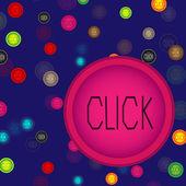 Botões coloridos — Vetor de Stock