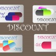 Discount cards — Stock vektor