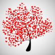 Tree of heart — Vector de stock