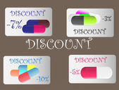 Discount cards — Stock Vector