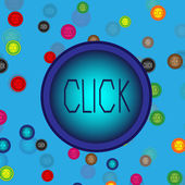 Kolorowe przyciski — Wektor stockowy