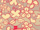 Flora background — Stock Vector