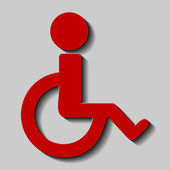 Disabled icon with glossy effect — Stock Vector