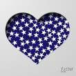 Vector de stock : Heart with stars