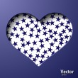 Heart with stars — Vector de stock