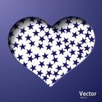 coração com estrelas — Vetorial Stock