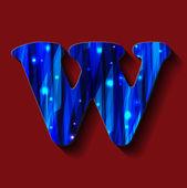 "English alphabet.""W "" — Stock Vector"
