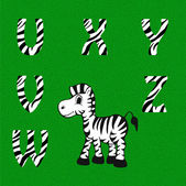 Children alphabet.Zebra — Stock Vector