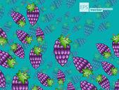 Berries background — Stock Vector