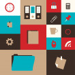 Set of icon for office — Stock Vector #30105389