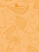 Pasta background — Stock Vector