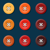 Colorful button on the background — Stock Vector