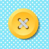 黄色按钮背景下的豌豆 — 图库矢量图片