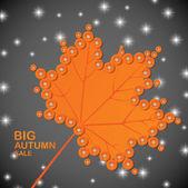 Оранжевый лист — Cтоковый вектор