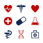 Set of medical symbols — Stock Vector