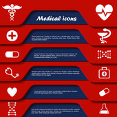 Set of medical symbols — Vettoriale Stock
