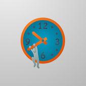 Zaman metafor Kaydet — Stok Vektör
