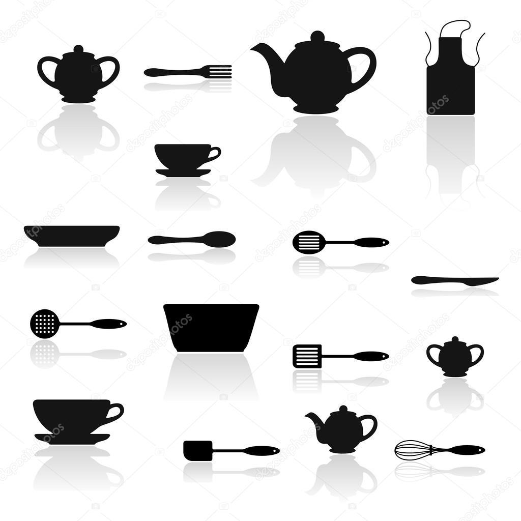 Sagoma utensili cucina vettoriali stock chorniy10 for Utensili cucina