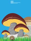 еж гриб — Cтоковый вектор