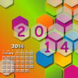 Calendar for 2014.January — Stock Vector