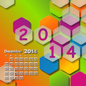 Calendar for 2014.December — Stock Vector