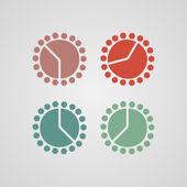 Färgglad klocka — Stockvektor