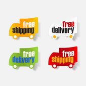 Sticker free shipping — Stock Vector
