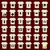 T-shirts with icons — Stock Vector