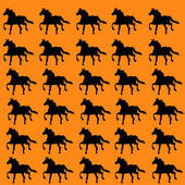 Set of colorful horses — Stockvector