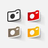 デジタル写真のカメラ — ストックベクタ