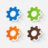 Colorful manual pinions — Stock Vector