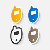 Mobile phones set — Wektor stockowy