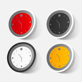 Wall clock stickers — Stock Vector