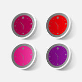 Colorful wall clocks — Vetorial Stock