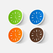 Colorful wall clocks — Vector de stock