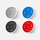 Wall clock stickers — Stock vektor