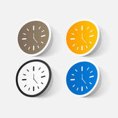 Colorful wall clocks — Stock Vector