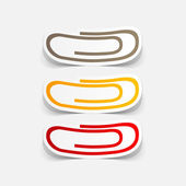 Paper clips set — Stock Vector