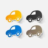 Car symbols set — Stock Vector