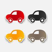 Colorful car symbols set — Vector de stock