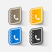 Telephone directories set — Wektor stockowy