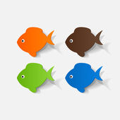Colorful fishes set — Wektor stockowy