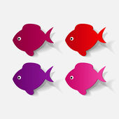Colorful fishes set — Stock Vector