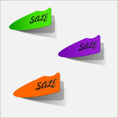 Colorful sale stickers — Stock Vector