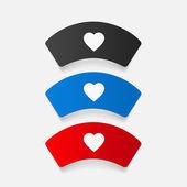 Nurse cap icons — Stock Vector
