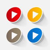 Play button web icons — Stock Vector