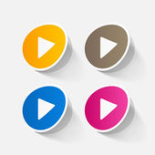Colorful play button icons — Stock Vector
