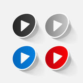 Play button web icons — Vecteur